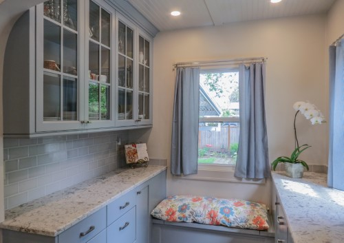 Small, charming kitchen in bungalow house with modern features, Golden Rule Remodeling & Design, Salem Oregon