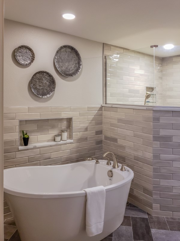 Bathroom remodel as part of whole home remodel, Golden Rule Remodeling & Design, Keizer Oregon