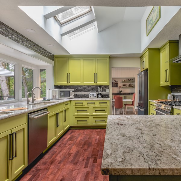 Modern Green Kitchen Remodel
